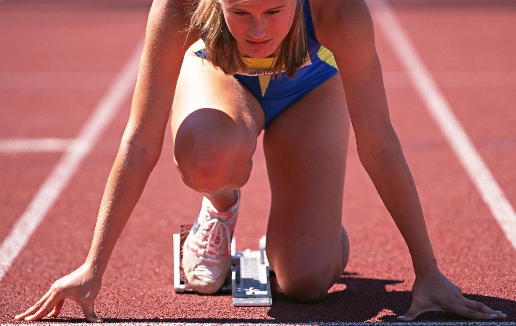 女性ランナーの写真